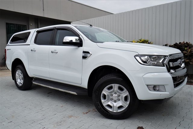 Used Ford Ranger PX MkII XLT Super Cab 4x2 Hi-Rider Cairns, 2017 Ford Ranger PX MkII XLT Super Cab 4x2 Hi-Rider White 6 Speed Sports Automatic Utility