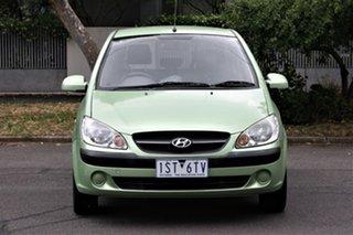 2010 Hyundai Getz TB MY09 SX Green 5 Speed Manual Hatchback.