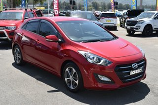 2015 Hyundai i30 GD4 Series II MY16 Active X Red 6 Speed Manual Hatchback.