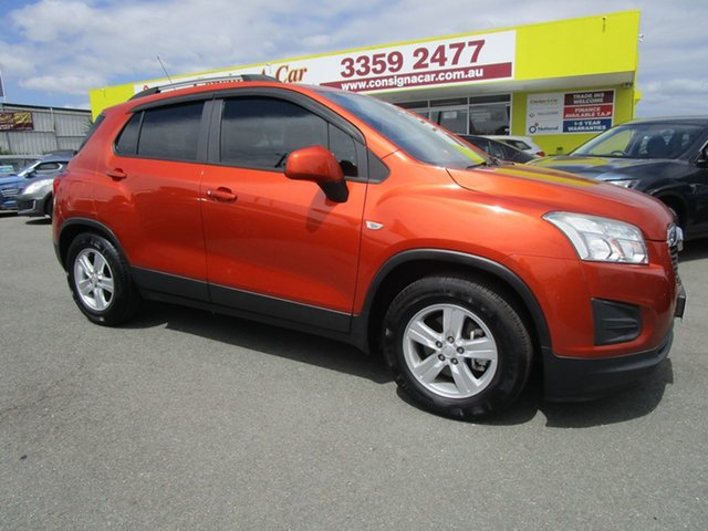 Used Holden Trax TJ MY14 LS Kedron, 2014 Holden Trax TJ MY14 LS Orange 6 Speed Automatic Wagon