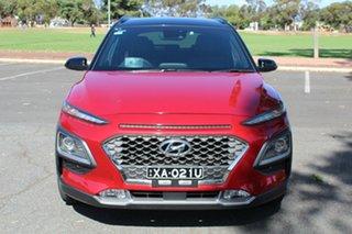 2018 Hyundai Kona OS MY18 Highlander 2WD Red 6 Speed Sports Automatic Wagon.