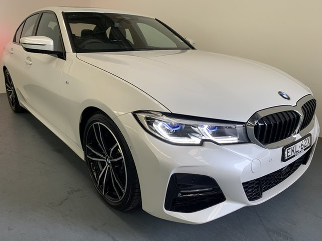 Demo BMW 3 Series G20 330i Steptronic M Sport Newcastle West, 2020 BMW 3 Series G20 330i Steptronic M Sport Mineral White 8 Speed Sports Automatic Sedan