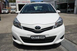 2014 Toyota Yaris NCP130R YR White 5 Speed Manual Hatchback