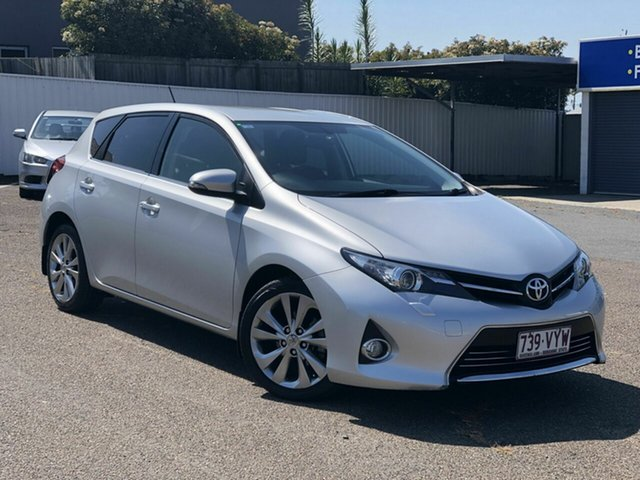 Used Toyota Corolla ZRE182R Levin S-CVT ZR Chermside, 2013 Toyota Corolla ZRE182R Levin S-CVT ZR Silver 7 Speed Constant Variable Hatchback