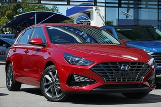 2021 Hyundai i30 PD.V4 MY21 Active Red 6 Speed Sports Automatic Hatchback.