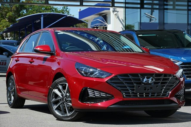 New Hyundai i30 PD.V4 MY21 Active Ingle Farm, 2020 Hyundai i30 PD.V4 MY21 Active Fiery Red 6 Speed Sports Automatic Hatchback