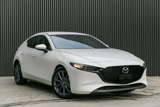 2020 Mazda 3 BP2H7A G20 SKYACTIV-Drive Evolve Snowflake White Pearl 6 Speed Sports Automatic.