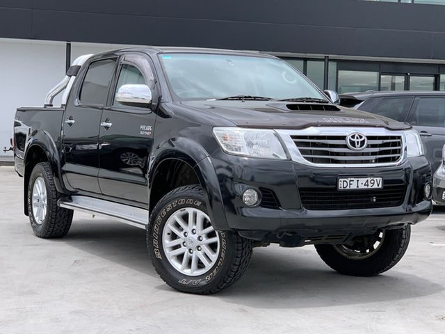 Used Toyota Hilux KUN26R MY14 SR5 Double Cab Liverpool, 2014 Toyota Hilux KUN26R MY14 SR5 Double Cab Black 5 Speed Automatic Utility