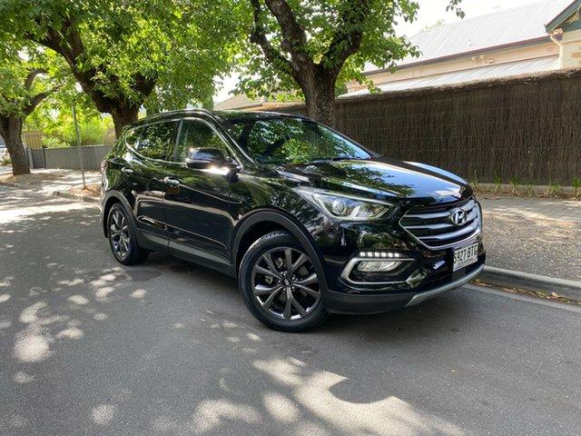 Used Hyundai Santa Fe DM3 MY17 Active X 2WD Hawthorn, 2017 Hyundai Santa Fe DM3 MY17 Active X 2WD Black 6 Speed Sports Automatic Wagon