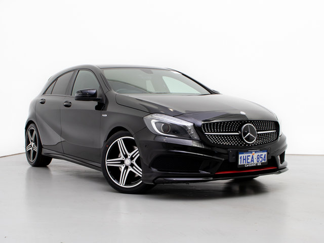 Used Mercedes-Benz A250 176 Sport, 2014 Mercedes-Benz A250 176 Sport Black 7 Speed Automatic Hatchback