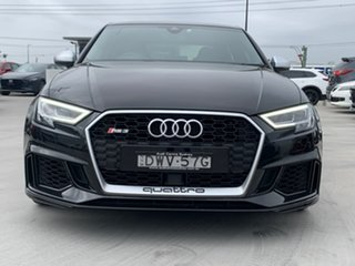 2018 Audi RS 3 8V MY18 Sportback S Tronic Quattro Black 7 Speed Sports Automatic Dual Clutch