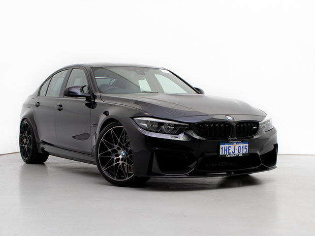 Used BMW M3 F80 LCI MY17 Competition, 2017 BMW M3 F80 LCI MY17 Competition Black 7 Speed Auto Dual Clutch Sedan