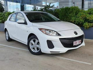 2012 Mazda 3 Maxx White 6 Speed Manual Hatchback.
