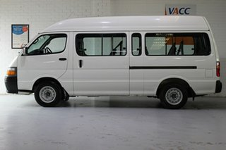2001 Toyota HiAce RZH125R Commuter Super LWB White 4 Speed Automatic Bus.