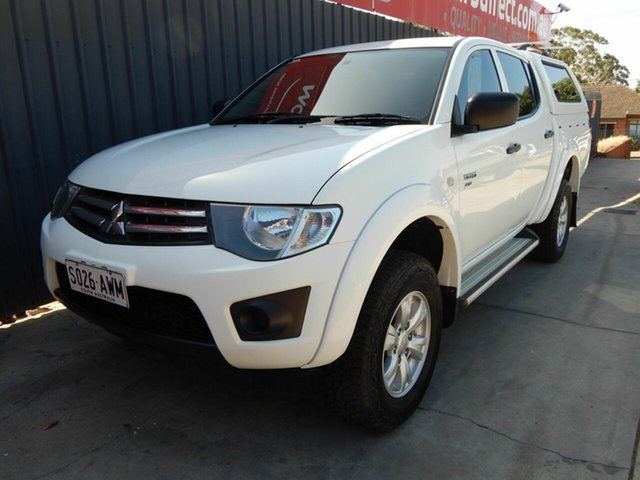 Used Mitsubishi Triton MN MY12 GLX Double Cab Blair Athol, 2012 Mitsubishi Triton MN MY12 GLX Double Cab White 5 Speed Manual Utility