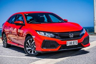 2017 Honda Civic 10th Gen MY17 VTi Red 1 Speed Constant Variable Hatchback.