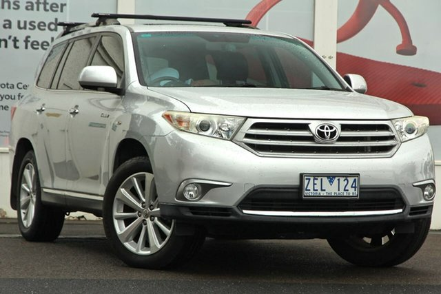 Pre-Owned Toyota Kluger GSU40R MY12 Grande 2WD Ferntree Gully, 2012 Toyota Kluger GSU40R MY12 Grande 2WD Silver 5 Speed Sports Automatic Wagon