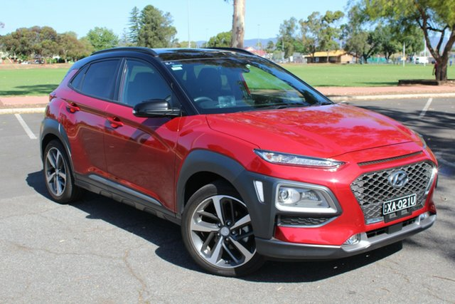 Used Hyundai Kona OS MY18 Highlander 2WD Nailsworth, 2018 Hyundai Kona OS MY18 Highlander 2WD Red 6 Speed Sports Automatic Wagon