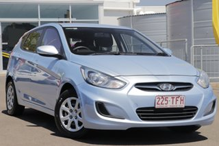 2013 Hyundai Accent RB Active Clean Blue 4 Speed Sports Automatic Hatchback.