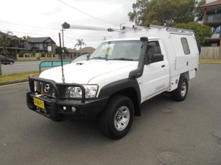 2016 Nissan Patrol MY14 DX (4x4) White 5 Speed Manual Leaf Cab Chassis.