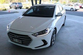 2017 Hyundai Elantra AD MY18 Active Ceramic White 6 Speed Sports Automatic Sedan.