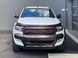 2017 Ford Ranger PX MkII Wildtrak Double Cab White 6 Speed Manual Utility.
