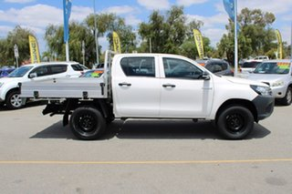 2016 Toyota Hilux GUN125R Workmate Double Cab White 6 Speed Manual Utility