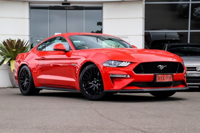Used Ford Mustang FN 2018MY GT Fastback SelectShift Sutherland, 2018 Ford Mustang FN 2018MY GT Fastback SelectShift Red 10 Speed Sports Automatic Fastback