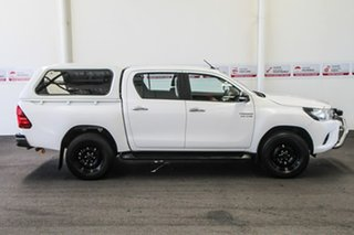 2016 Toyota Hilux GUN126R SR Double Cab Glacier White 6 Speed Manual Cab Chassis