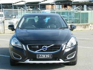 2014 Volvo S60 F MY14 T6 R-Design Black 6 Speed Automatic Sedan.