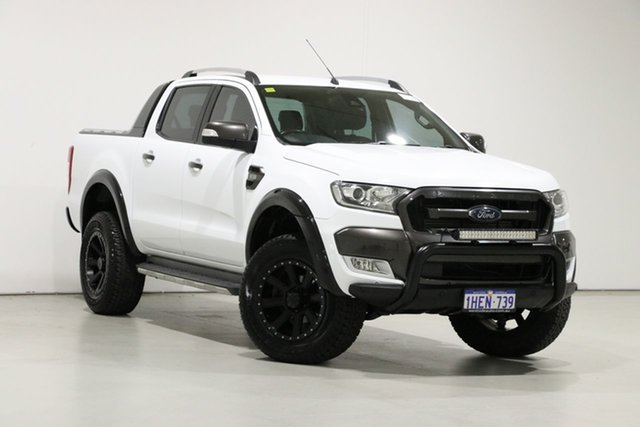 Used Ford Ranger PX MkII MY17 Wildtrak 3.2 (4x4) Bentley, 2017 Ford Ranger PX MkII MY17 Wildtrak 3.2 (4x4) White 6 Speed Manual Dual Cab Pick-up
