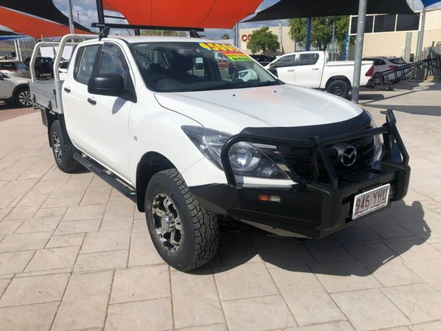 Used Mazda BT-50 UR0YG1 XT Mundingburra, 2018 Mazda BT-50 UR0YG1 XT White 6 Speed Manual Cab Chassis