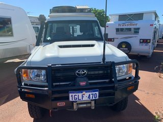 2017 Toyota Landcruiser Workmate Troopcarrier White 5 Speed Manual Motor Camper.