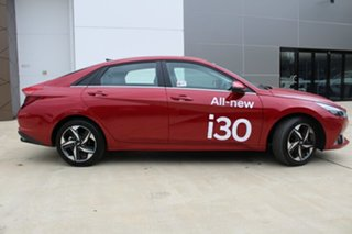 2020 Hyundai i30 CN7.V1 MY21 Active Fiery Red 6 Speed Sports Automatic Sedan.