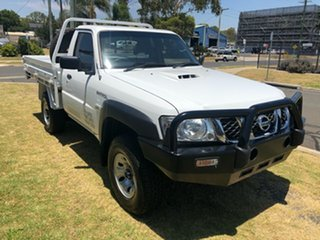 2014 Nissan Patrol MY14 DX (4x4) White 5 Speed Manual Leaf Cab Chassis