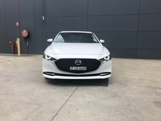 2020 Mazda 3 BP2SHA X20 SKYACTIV-Drive Astina Snowflake White 6 Speed Sports Automatic Sedan.