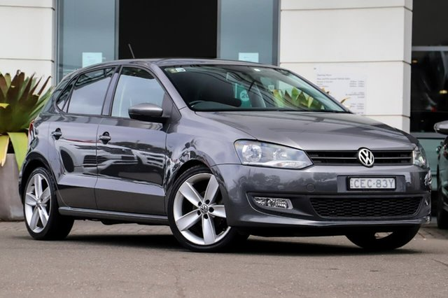 Used Volkswagen Polo 6R MY11 77TSI DSG Comfortline Sutherland, 2011 Volkswagen Polo 6R MY11 77TSI DSG Comfortline Grey 7 Speed Sports Automatic Dual Clutch