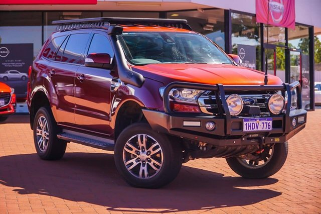 Used Ford Everest UA Trend Gosnells, 2016 Ford Everest UA Trend Red 6 Speed Sports Automatic SUV