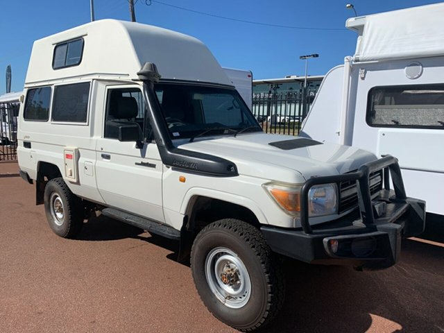 Used Toyota Landcruiser Workmate Troopcarrier St James, 2011 Workmate Troopcarrier Toyota Landcruiser White Motor Camper
