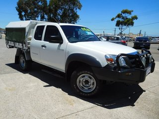 2009 Mazda BT-50 UNY0E4 DX+ Freestyle 4x2 White 5 Speed Manual Cab Chassis