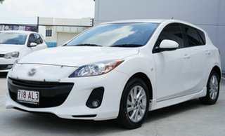 2013 Mazda 3 BL10F2 MY13 Maxx Activematic Sport White 5 Speed Sports Automatic Hatchback.
