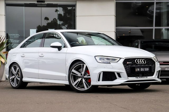 Used Audi RS 3 8V MY17 S Tronic Quattro Sutherland, 2017 Audi RS 3 8V MY17 S Tronic Quattro White 7 Speed Sports Automatic Dual Clutch Sedan