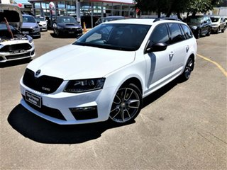 2015 Skoda Octavia NE MY16 RS DSG 162TSI White 6 Speed Sports Automatic Dual Clutch Wagon.