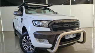 2018 Ford Ranger PX MkII 2018.00MY Wildtrak Double Cab White 6 Speed Sports Automatic Utility.