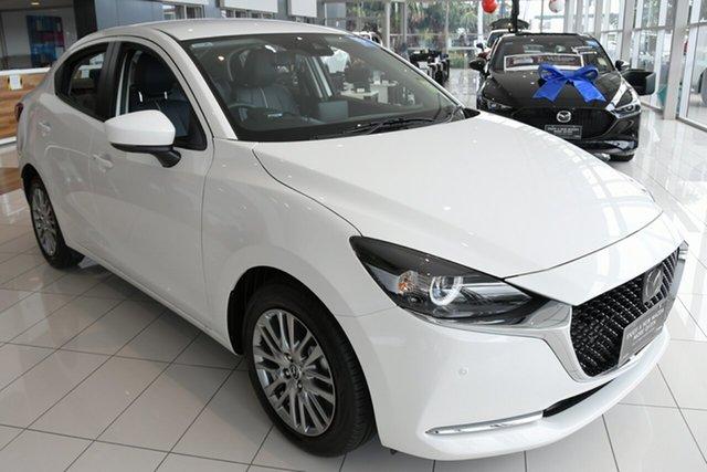 New Mazda 2 DL2SAA G15 SKYACTIV-Drive GT Hindmarsh, 2021 Mazda 2 DL2SAA G15 SKYACTIV-Drive GT Machine Grey 6 Speed Sports Automatic Sedan