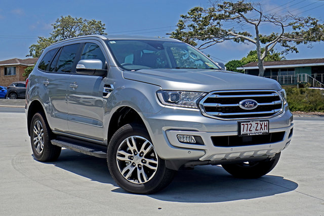 Used Ford Everest UA II 2020.75MY Trend Capalaba, 2020 Ford Everest UA II 2020.75MY Trend Aluminium 10 Speed Sports Automatic SUV