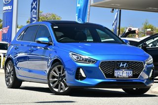 2018 Hyundai i30 PD MY18 SR D-CT Premium Blue 7 Speed Sports Automatic Dual Clutch Hatchback.