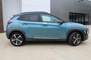 2020 Hyundai Kona OS.3 MY20 Highlander D-CT AWD Ceramic Blue & Black Roof 7 Speed.
