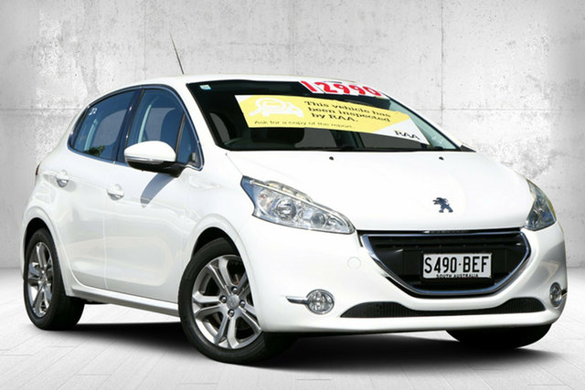Used Peugeot 208 A9 MY14 Allure Valley View, 2014 Peugeot 208 A9 MY14 Allure Bianca White 4 Speed Automatic Hatchback