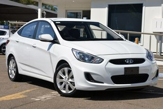 2018 Hyundai Accent RB6 MY19 Sport White 6 Speed Sports Automatic Sedan